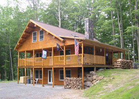 Woodstock Vermont Log Cabin For Rent