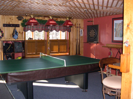 Rec Room - Pool table and Dart Board