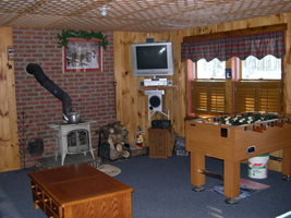Rec Room - Fooze Ball and Wood Stove